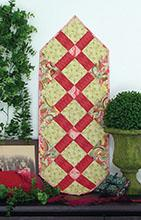 Fat Quarter Table Runner V-Out of the Blue Quilts - 93-6563