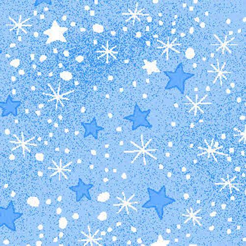 Mini Star Blue Flannel