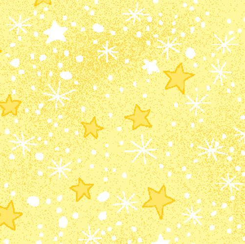 Mini Star Yellow Flannel
