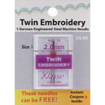 Klasse Twin Embroidery Needle Size 75 2.0mm