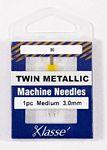 Klasse Twin Metallic 3.0/80 1 Needle