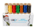 Aurifil Merry Stitch-mas Floss Collection 7 Small Spools