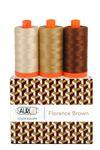 Aurifil Color Builder Florence Brown 3pc.