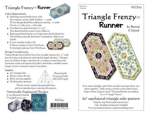 AEDS Triangle Frenzy Runner Pattern AED162
