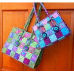 Aunties Two Patterns:  Breezy Weave Bags