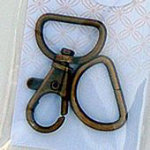 3/4 swivel hook&Dring Brass 3/4 Swivel hook and D ring - Antique Brass