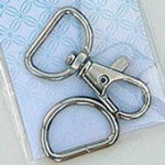 3/4 Swivel Hook D Ring Nickel