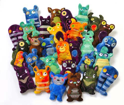 Minkee Monsters Fabric Kit