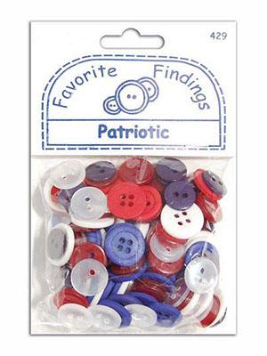 Favorite Findings Patriotic Buttons