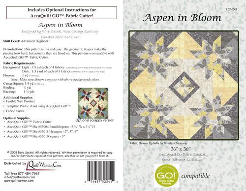 Aspen in Bloom quilt Pattern