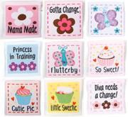 Babyville Labels 9pc Girl designs