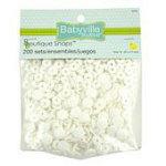 babyville snaps 200 size 16 white
