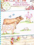 Crabapple Hill Studio - Noah's Journey BOM: #9 Cows & Flamingos
