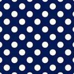 Large Polka Dots White/Navy