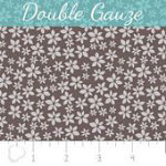 Fabric Double Gauze Calico Dark Taupe