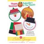 Happy Holiday Potholders & Tea Towels Pattern