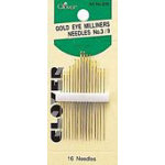 Gold Eye Milliners Needles 16ct. sz.3-9