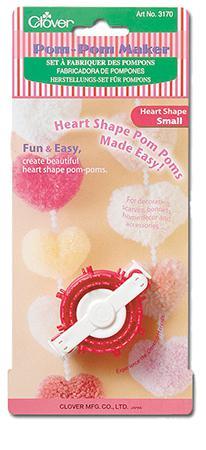 Pom Pom Maker Heart Shape Sm