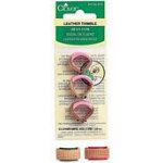 Clover Leather Thimble - pkg of 3