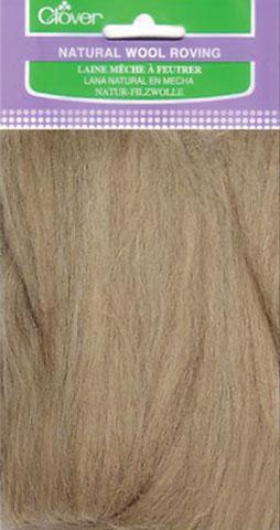 Oatmeal Natural Wool Roving