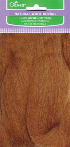 Caramel Natural Wool Roving