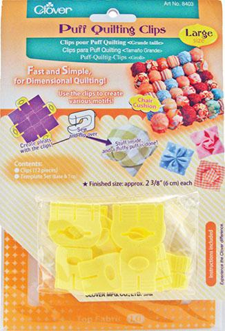 Puff Quilting Clips Large 12/p Puff Quilting Clips Large 12/pkg NEW!