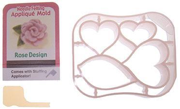 Needle Felting Applique Mold Rose