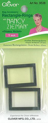 Rectangle Rings - Glossy Nickel 1