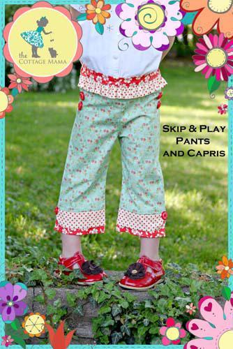 Cottage Mama - Skip Play Pants Capris