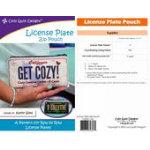 (P45) License Plate Zipper Pouch