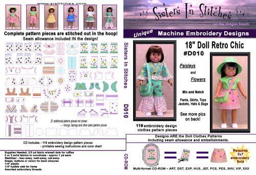 Sisters in Stitches 18 Doll Retro Chic