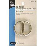 4/D Rings/Brass 117-114-35Gl 1 1/4 Inch