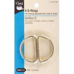 D-Rings Nickel 1 4ct