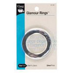 Glamour O-Ring Polished Silver 2-1/8in 3/box