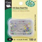 Dritz Glass Head Pins 100ct