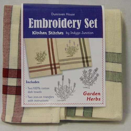 Tea Towel Embrdery Kit Garden