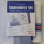 Tea Towel Embroidery Kit Anchors Away