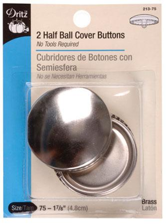 Half Ball Cover Buttons, size75, 1 7/8