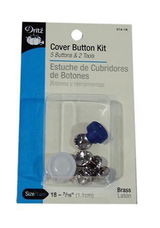 Dritz Cover Button Kit sz18 5ct