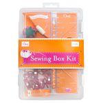 Sewing Box Kit, Orange Pink, 1 Kit