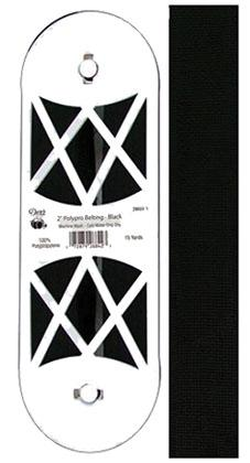 2 Polypro Belting Black 15yds
