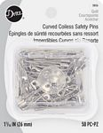 Curved Safety Pins Size 1 Box 50