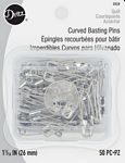 Pin Safety Curve Nickel Sz1 50pc