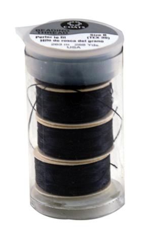 Beading Thread Tube Black
