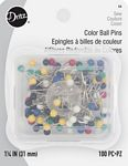 Color Ball Pins / 1-1/4in /100ct
