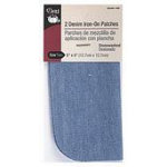 Denim Iron On Patch Assorted 6
