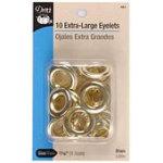 10 EXTRA LARGE BRASS EYELETS DRITZ