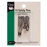 Curved Safety Pins sz1 50ct 6