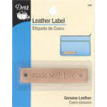 Leather Label Rectangle-Made with Love