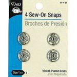 Sew-on Snaps Nickel 4ct